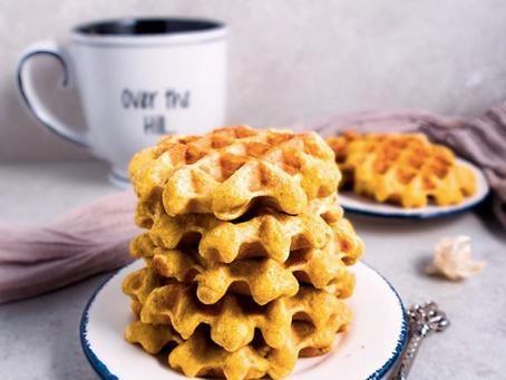 Truly Turmeric Vanilla Waffles