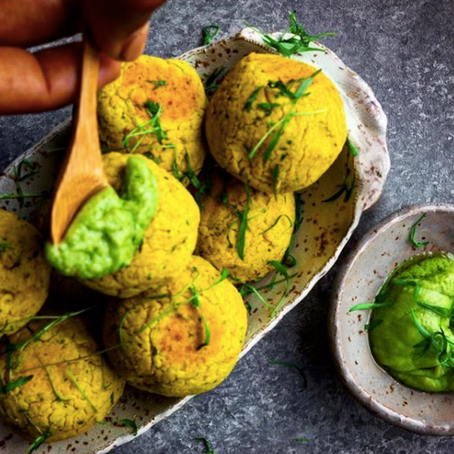 Truly Turmeric Falafels with Avocado Mayonnaise!