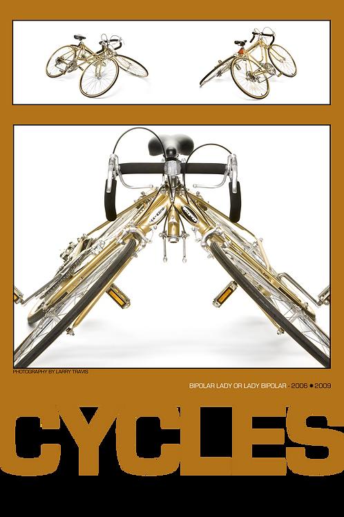 Orange Cycles Poster