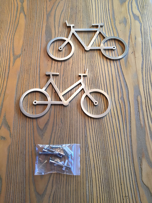 His and Hers Bike Wall-Art Set