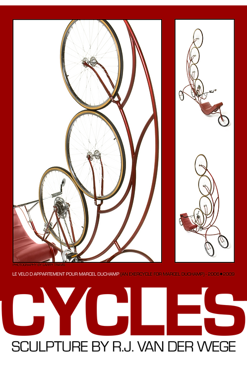 Red Cycles Poster