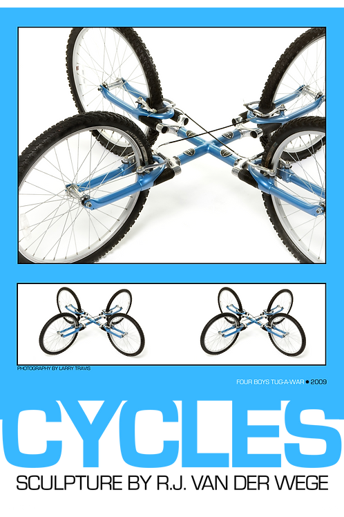 Blue Cycles Poster