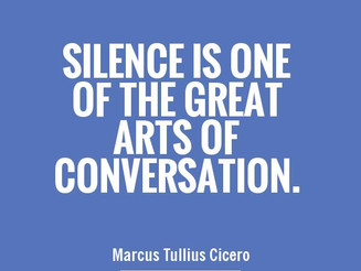Another shout out for silence...