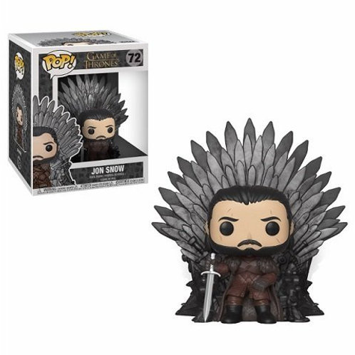 JON SNOW SITTING ON IRON THRONE