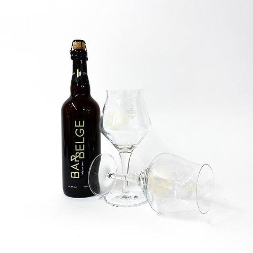 Bar Belge 75cl + 2 Glazen