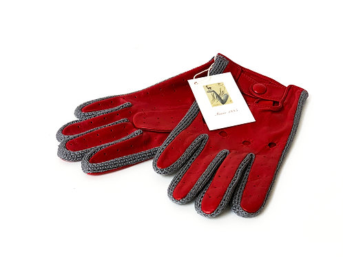 Nappa Cotton Red/Grey