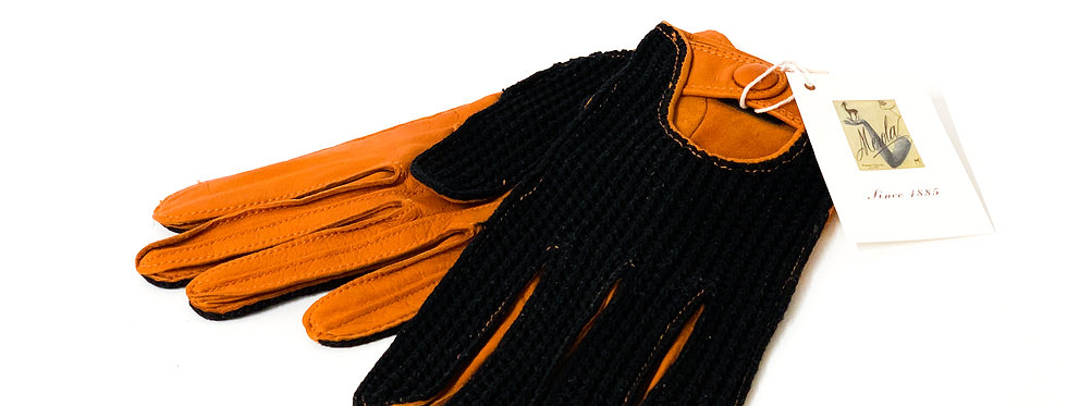 Nappa driving Orange/Black