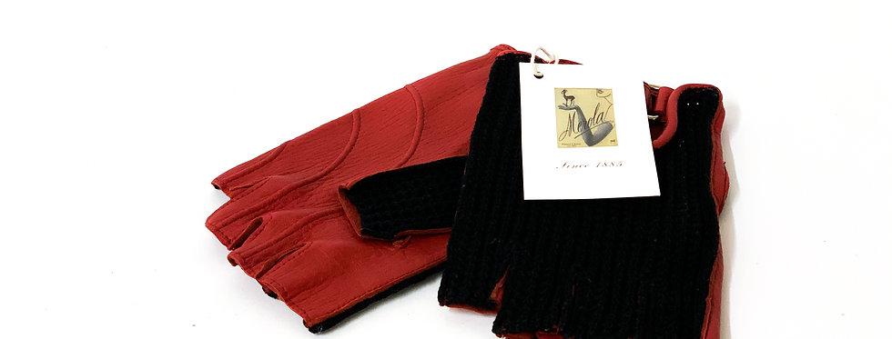 Deer / Cotton Red/Black : Fingerless