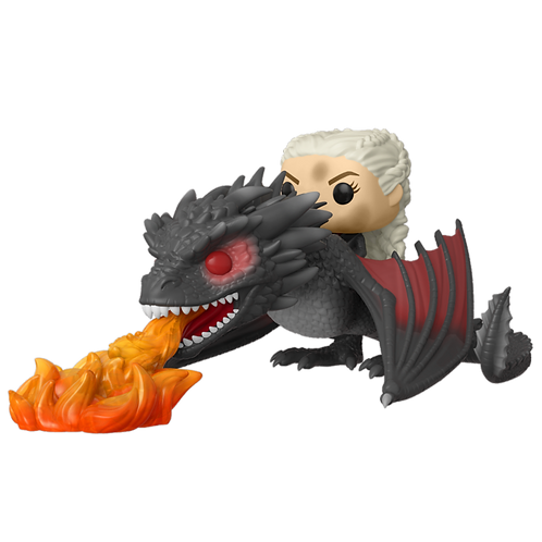 DAENERYS ON FIERY DROGON