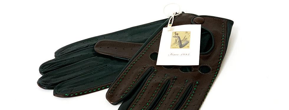 Nappa Red/Black Sewing Black