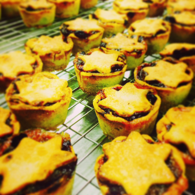 Mince pies in the making