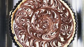 Cardamom & Chocolate Swirl Tart