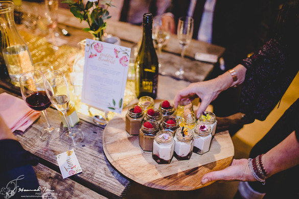Dessert pots sharing board