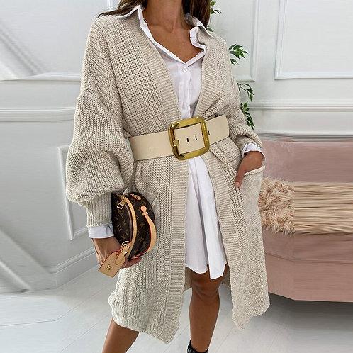 Casaco de lã longo