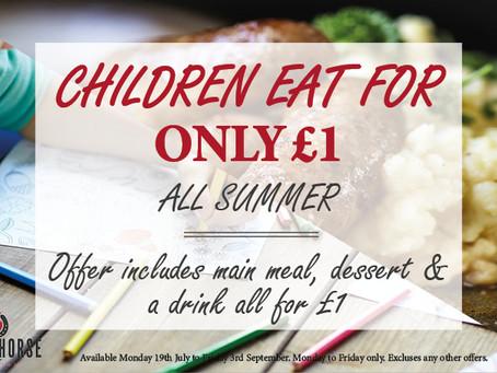 CHILDREN EAT FOR £1