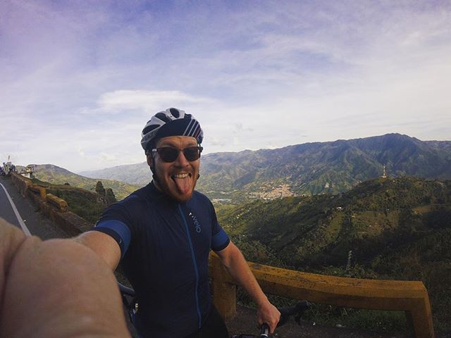 Cycling in the mountains around Medellin.