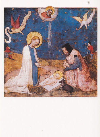 Stephan Lochner. Kristusbarnets tilbedel