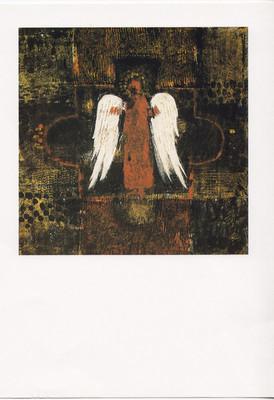 Anita Viola Nielsen. Ikon med engel. Tek