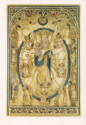 Kirkemaleri. Jomfru Maria. Tekst af Else