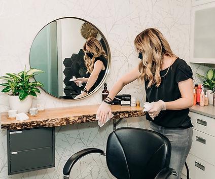Women Cleaning Salon Suite