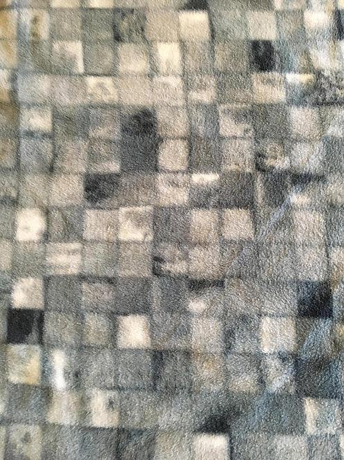 Grey Tile - Fleece Blanket Blizzard Polar Single Layer
