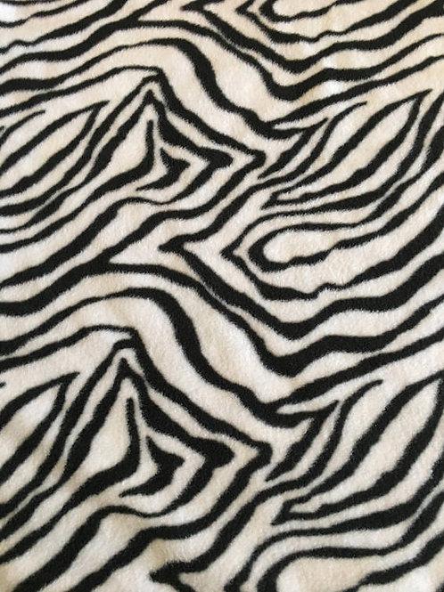 Zebra - Fleece Blanket Blizzard Polar Single Layer