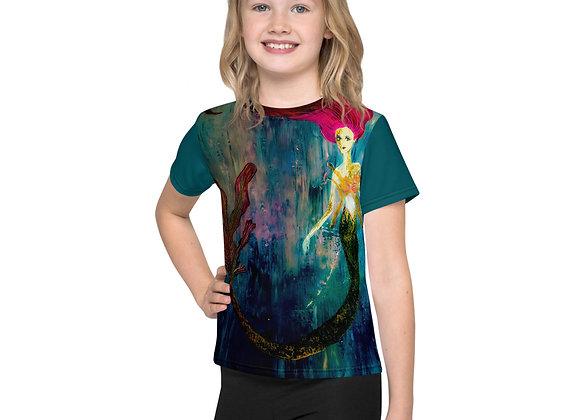 Kids Rainbow Mermaid T-Shirt
