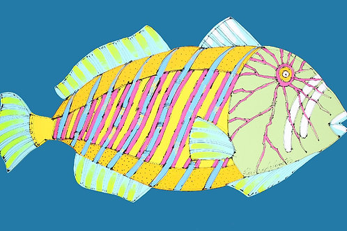 Triggerfish in Blue