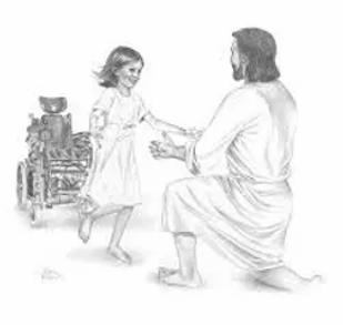 jesus girl wheel chair.webp