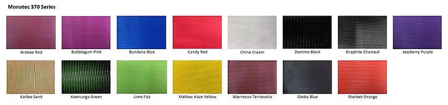 Monotec 370 färger segelduk solsegel
