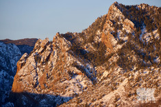 Flatirons Winter Sunrise