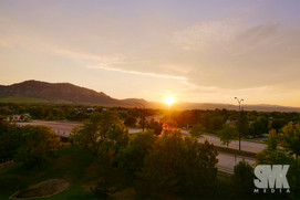 Boulder Colorado Summer Sunset