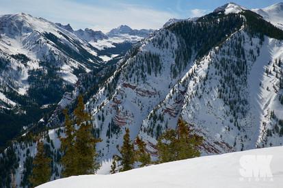 Maroon Bells Scenic Winter View