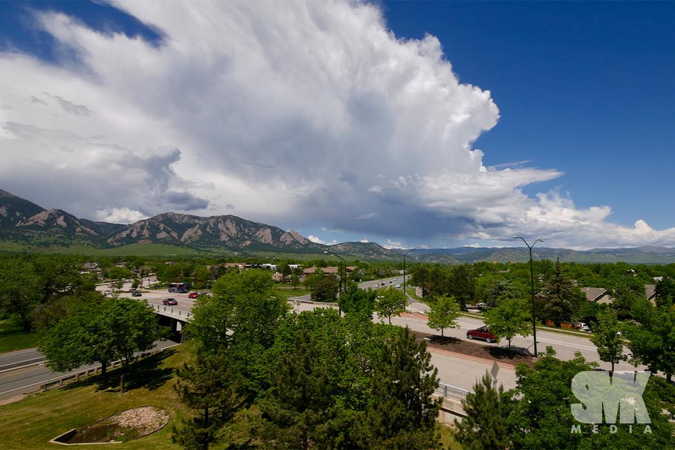 Boulder Colorado Storm Clouds Rolling In