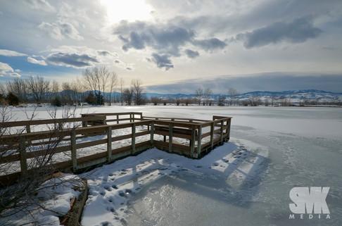 Frozen Lake Scenic Overlook