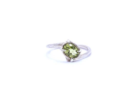 Peridot & Silver Ring