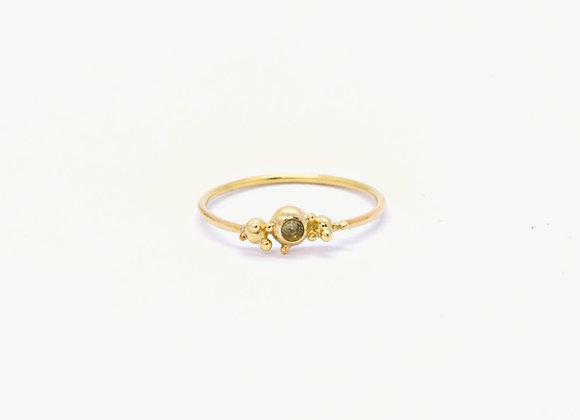 Blossoming Peridot & Gold Ring