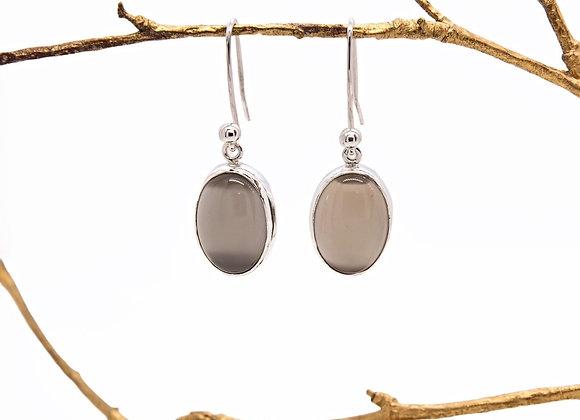 Chocolate Moonstone Earrings