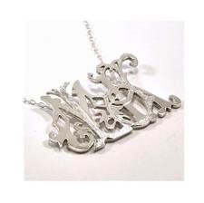 "Initial ""MLJK"" Silver Pendant"