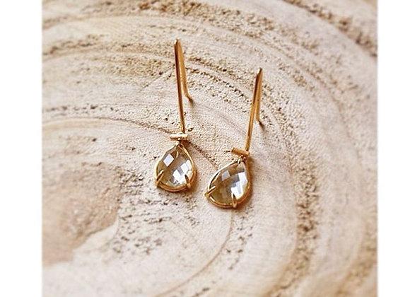Green Amethyst & Rose Gold Earrings