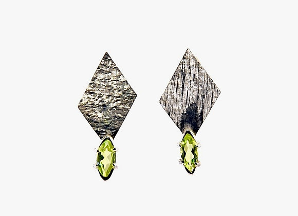 Silver & Peridot Earrings