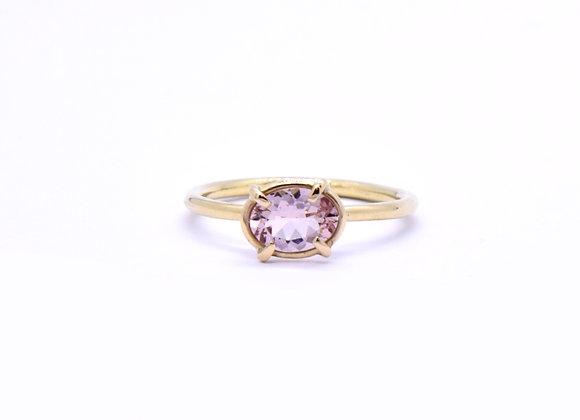 Pink Morganite & Gold Ring