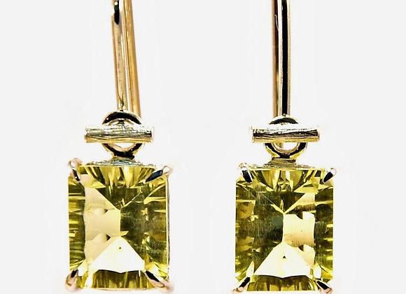 Lemon Quartz & Silver Earrings