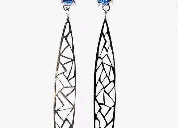 Topaz & Silver Dangle Earrings
