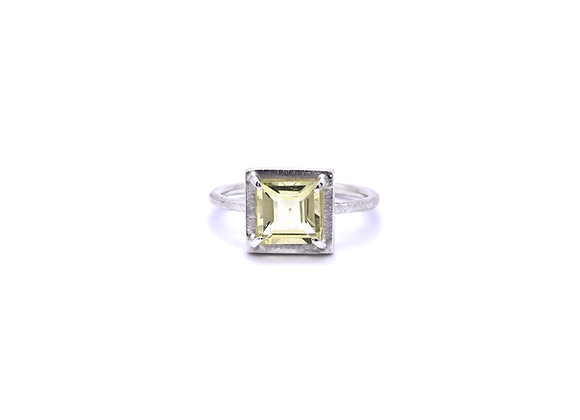 Lemon Quartz & Silver Ring