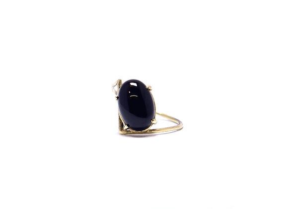 Onyx & Gold Ring