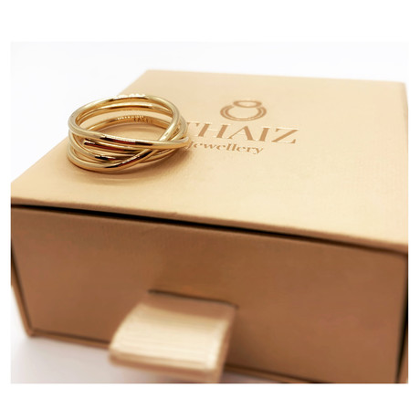 18k Yellow Gold Infinity Ring