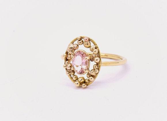 Morganite & Gold Ring