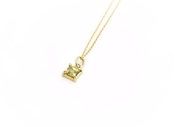 Gold & Marli Garnet Necklace