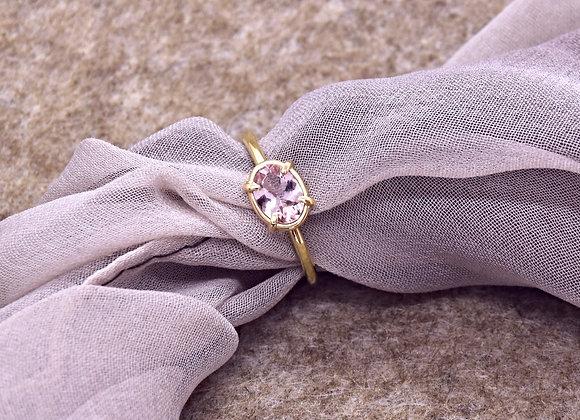 Morganite Gold Ring